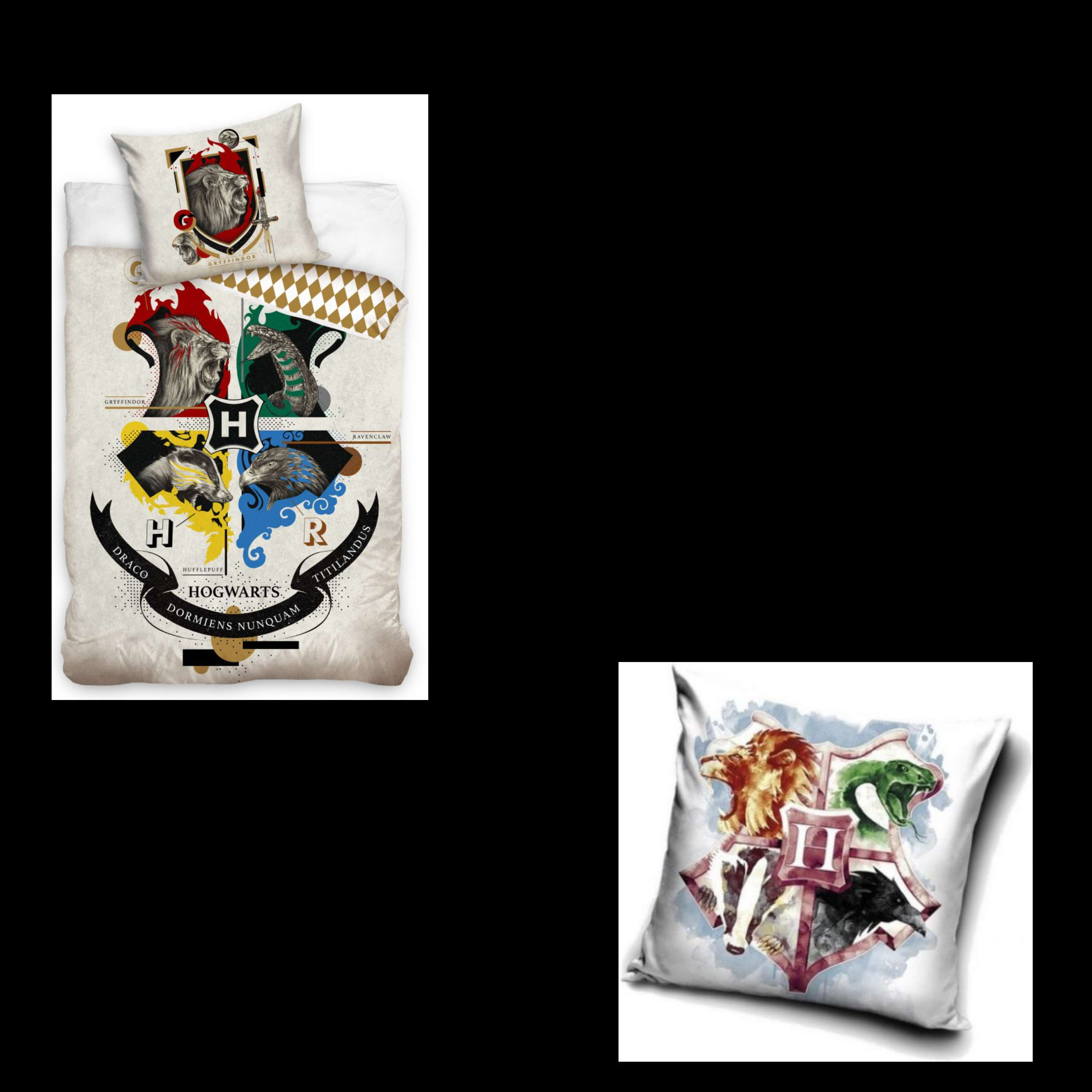 Harry Potter House With Animal Design Duvet And Matching Cushion Set