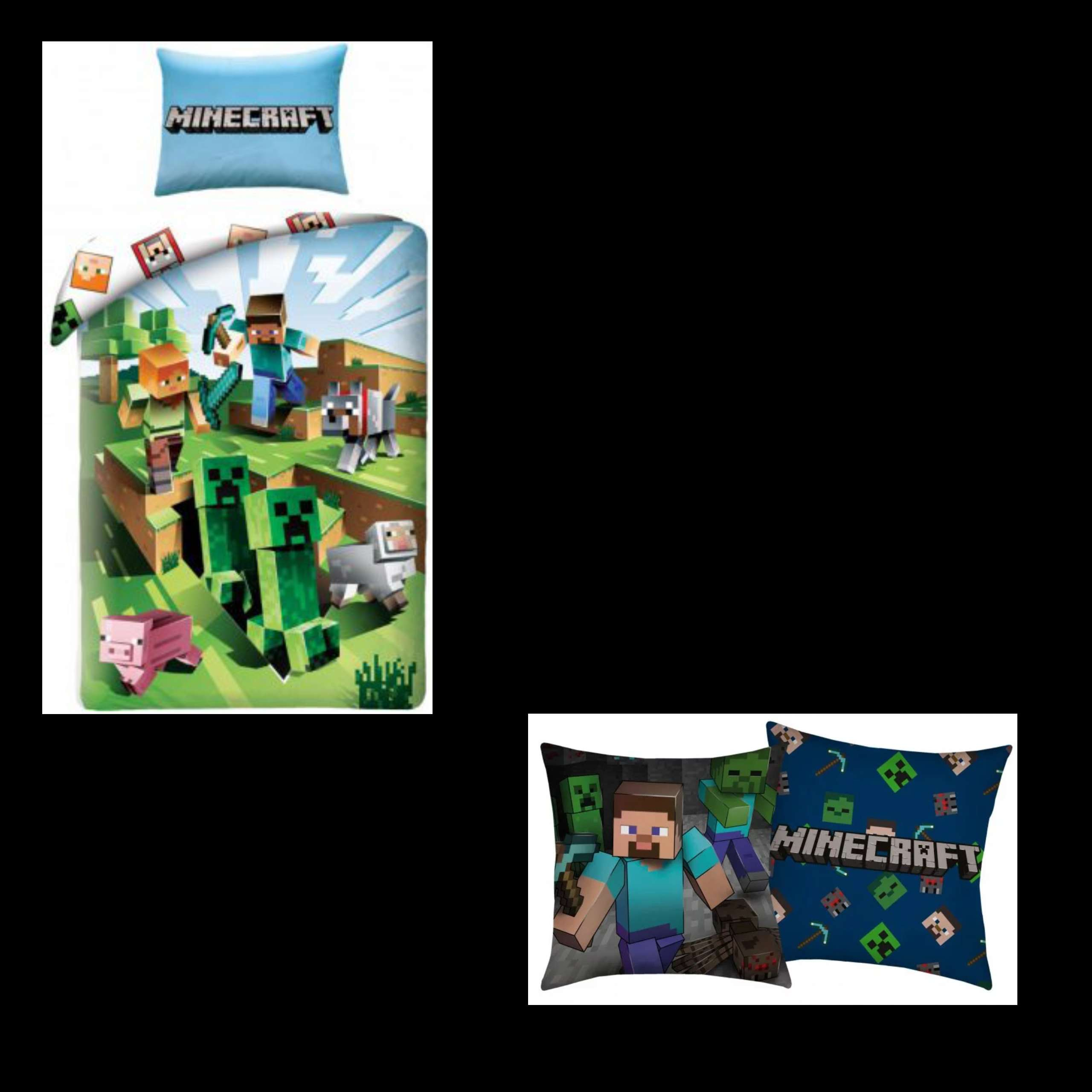 MineCraft Single Duvet Cover And Pillowcase And Cushion Set