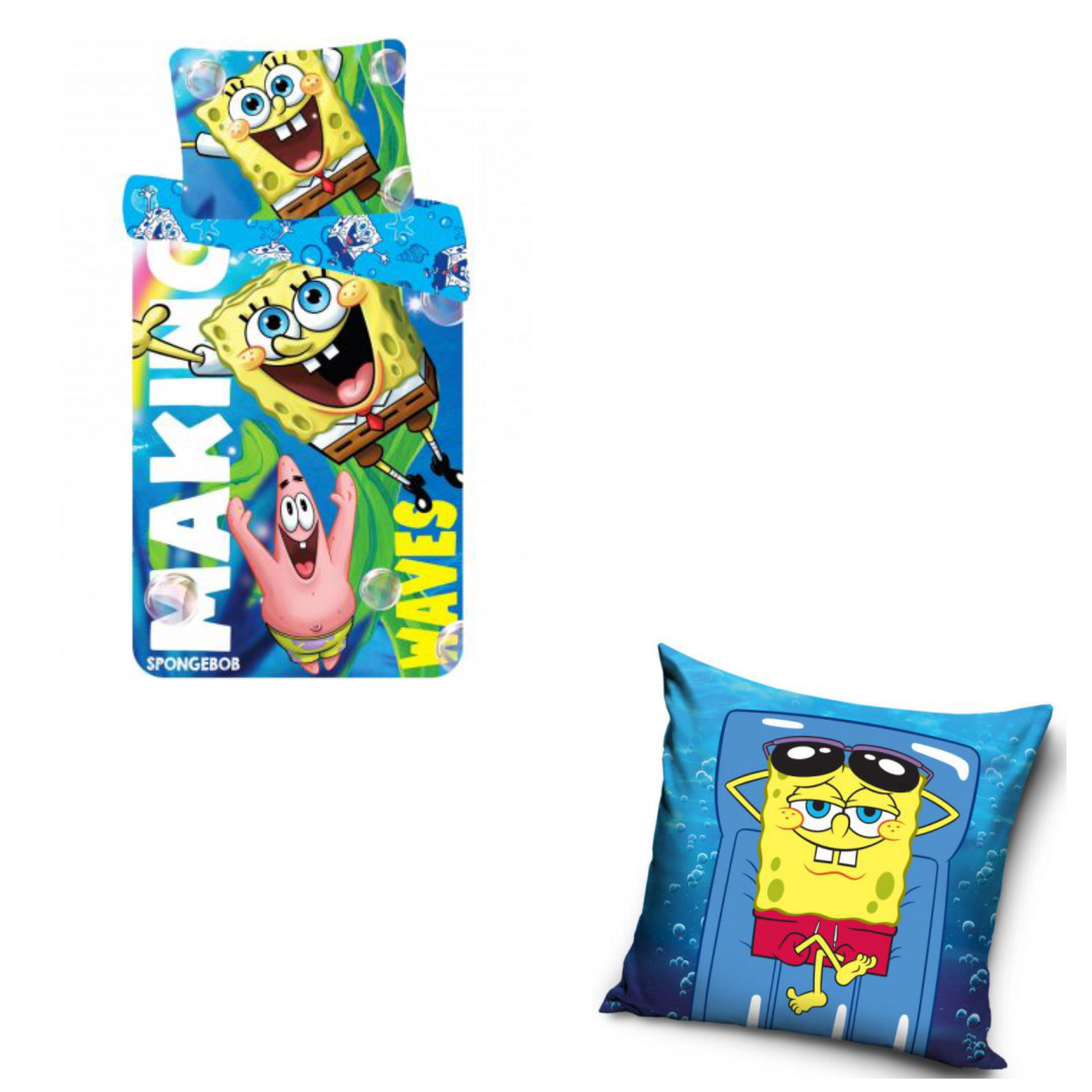 SpongeBob Making Waves Duvet Cover And Lazy Cushion Set