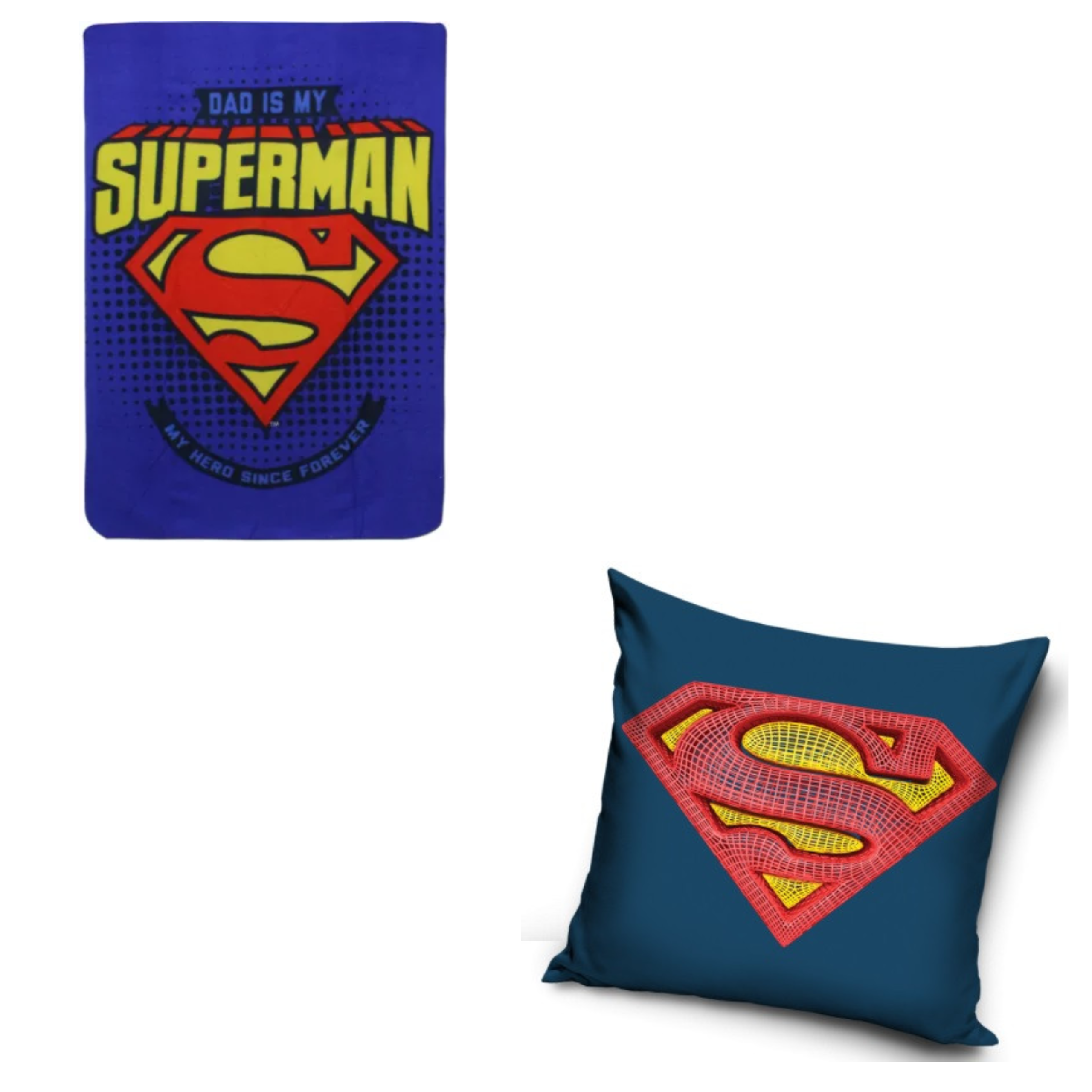Dad Is My Superman Blanket And Superman Cushion Set