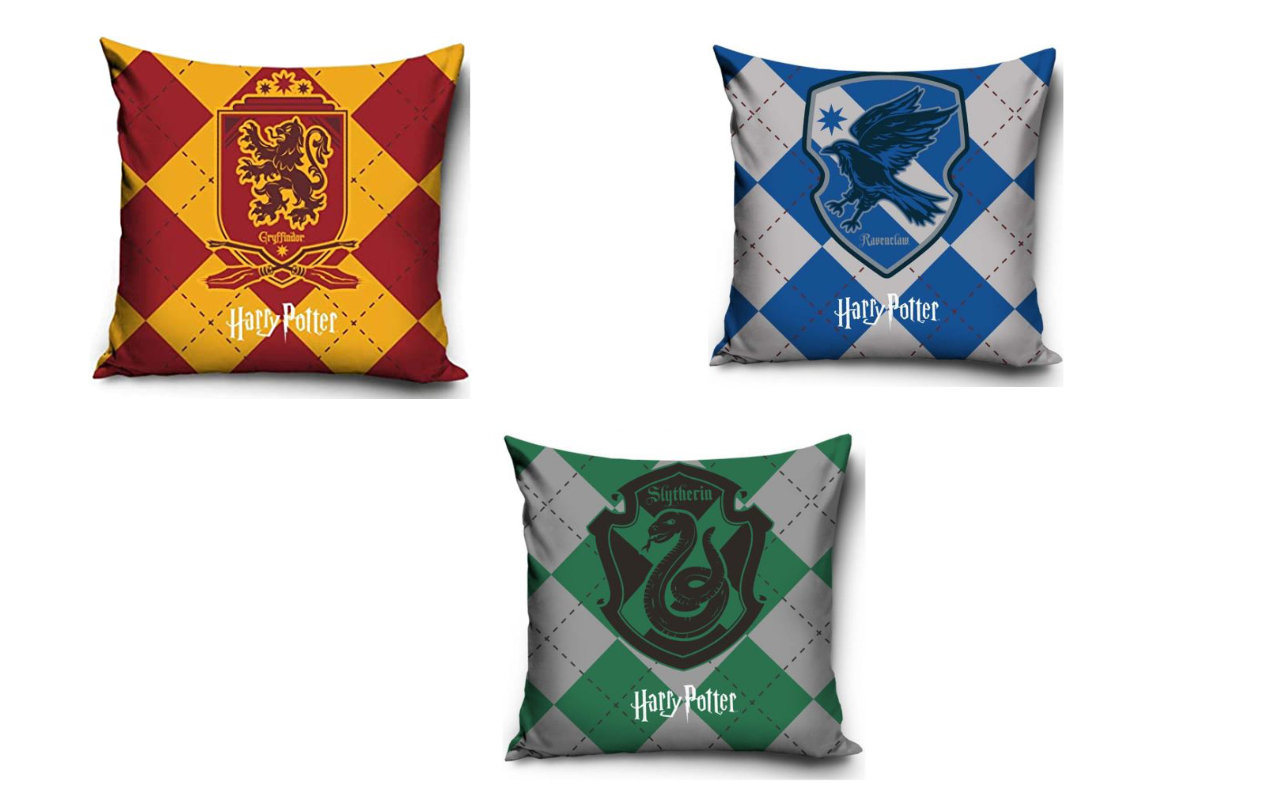 Harry Potter Gryffindor Ravenclaw Slytherin Trio Cushion Set