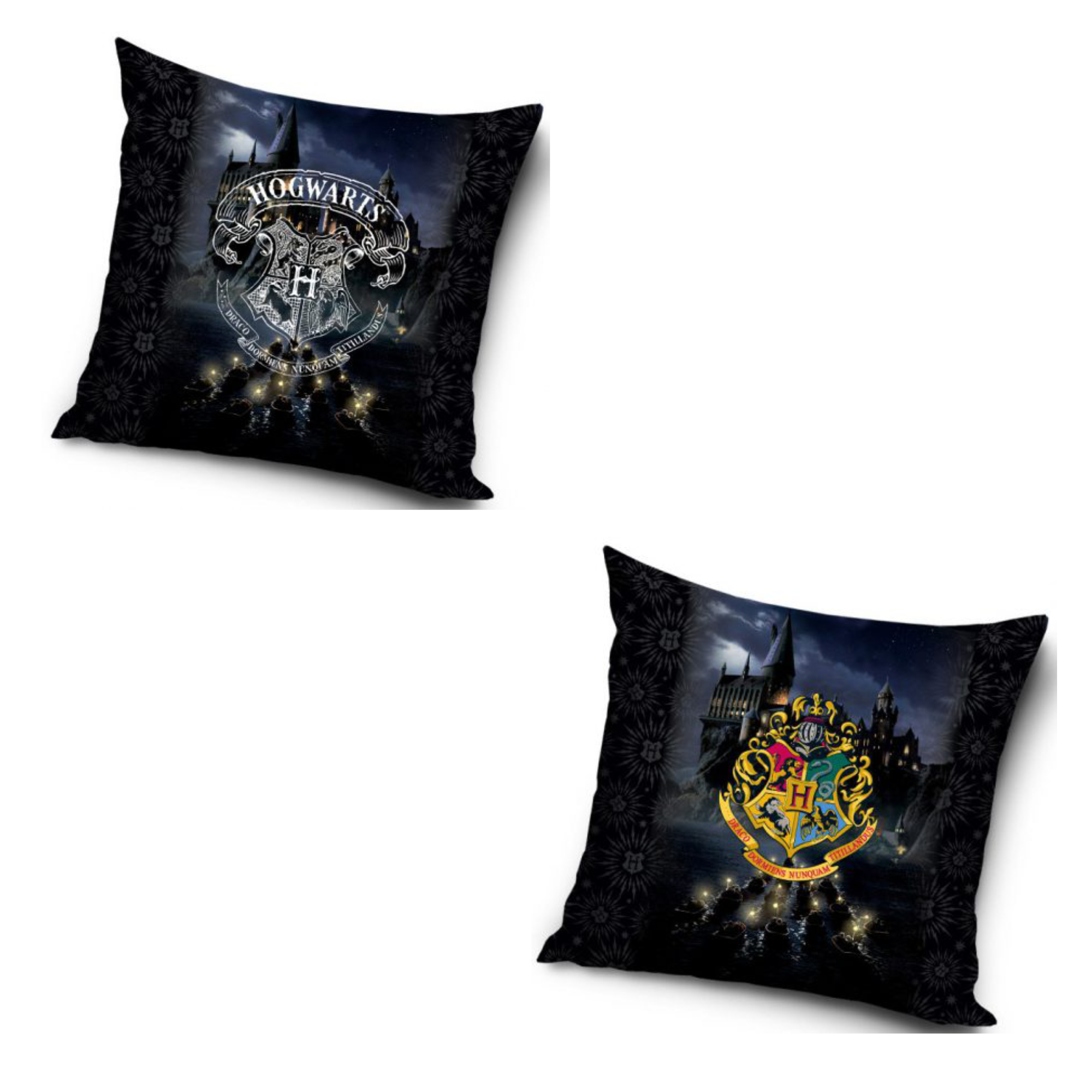 Harry Potter Hogwarts Colour And Silver Two Pack Cushion Set