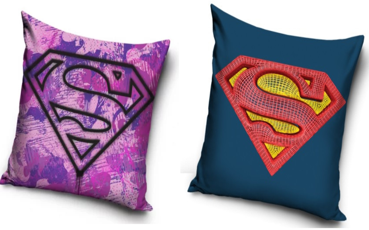 Superman And Supergirl Two Pack Cushion Set